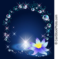 Magic lily and bubbles - Magic lily, stars and bubbles