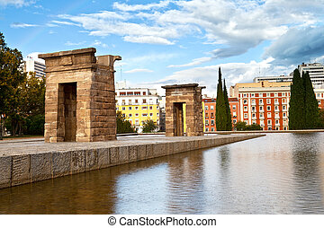 Debod Temple in Madrid This temple was a gift from Egypt to...