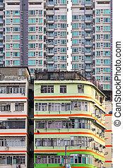 Hong Kong old and new building