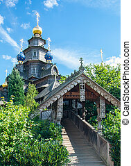 Wooden Russian church in Gifhorn
