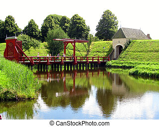 Bourtange, Groningen - Brug in Bourtange