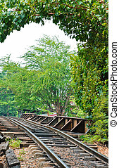 Railway against trees