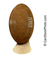 Old Classic Retro Rugby Ball On Sand - An old classic...