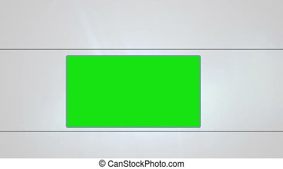 Chroma key on white background