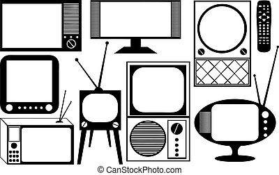 tv set - television set collage