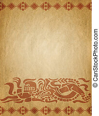 Background in American Indian style - Background with...