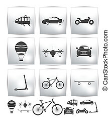 Vector Set of transport icons  tour