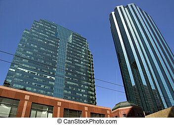 Skyscrapers in Edmonton Alberta\\\'s city center.