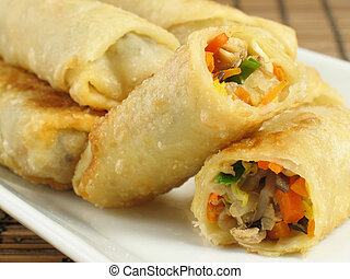 Flavorful Egg Rolls - A delicious serving of egg rolls...