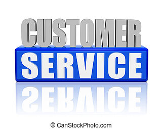 customer service - letters and block - 3d color letters and...