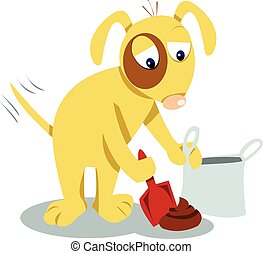 Even dogs know you have to clean it up! - a funny dog...