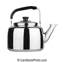 Kettle with whistle on background. - Kettle with whistle on...
