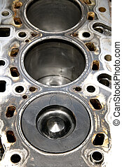 Piston - Close up of piston and cylinder hole