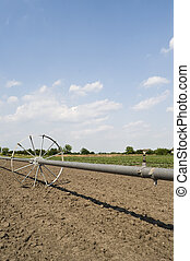 Water supply - Cultivated field after seeding with...