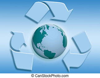 Bio world - World background to represent bio and healthy...