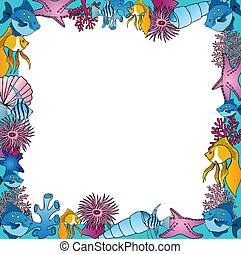 Sealife frame blue
