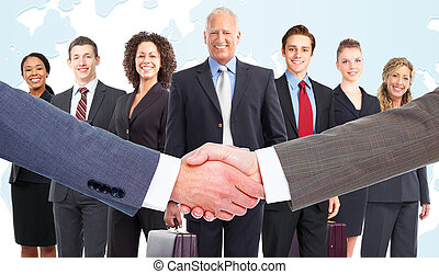 Business meeting Handshake - Handshake Group of business...