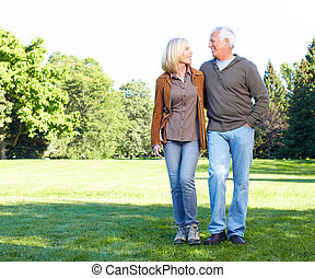 Happy senior couple - Happy senior couple in love in the...