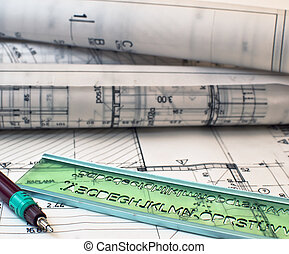 heap of design and project drawings