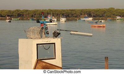 Docked fishing boat - Fishing boat docked in the bay of...