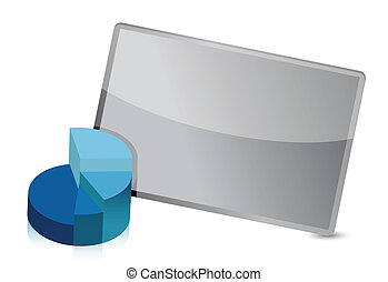 business pie chart frame illustration design over white