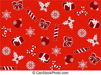 seamless red background for Christmas - seamless red...