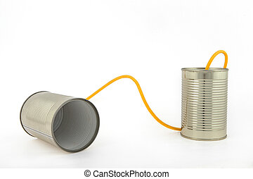 Communication with tin cans - Concept about communications...