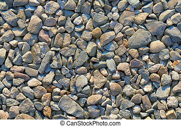 Coarse gravel texture or background - Rough stone fragment...