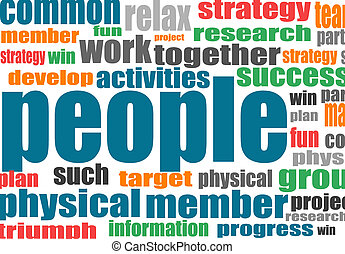 Background concept wordcloud of society glowing light
