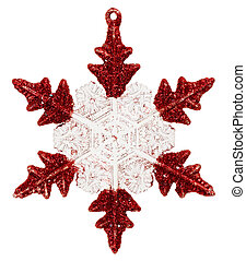 Christmas decoration star, isolated on white