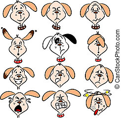 Cartoon dog expressions - Selection of cartoon dog faces...