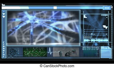Medical interface showing research - Medical interface...