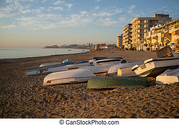 Torrevieja beach - Northern Torrevieja beach with...
