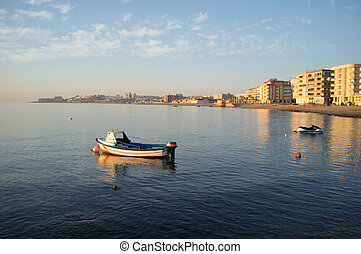Torrevieja bay with its calm sunny waters