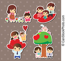 cartoon family stickers