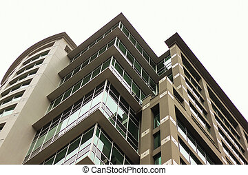 condo viewed from street level