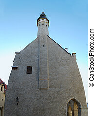 Tallinn Townhall from side. Composite image, comprised from...