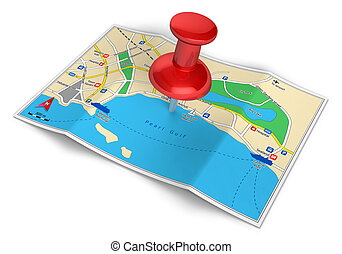 GPS navigation, travel and tourism concept