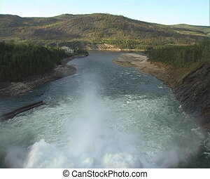 Spillway - Spillway of hydro electric power dam