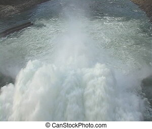 Spillway. - Spillway of hydro electric power dam.