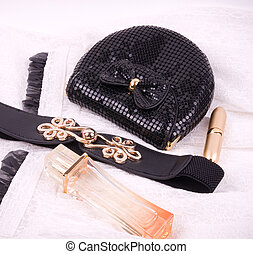 accessories and perfume - The beautiful accessories and...