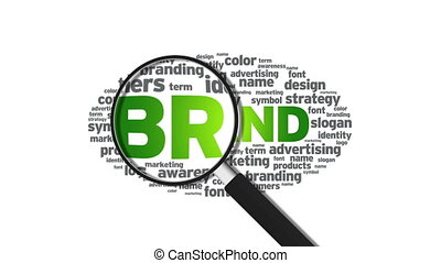 Brand - Animated Magnified Brand Illustration