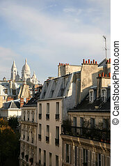 view on Sacre Coeur (Paris) - view on cathedral Sacre Coeur...