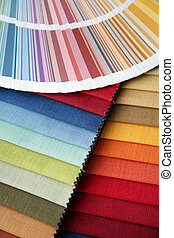 fabric and opened color card