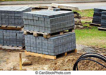 construction cobble-stones
