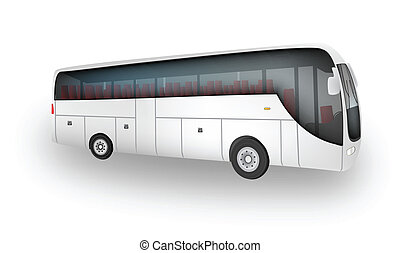 Coach - Graphic illustration of coach car isolated over...
