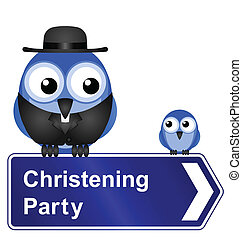 Christening Party sign - Comical Christening Party sign...
