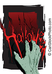 hand Halloween - Halloween flyer with a scary zombie hand