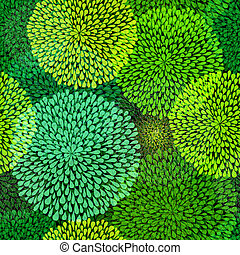 Green repetitive pattern - Seamless pattern with transparent...