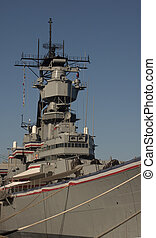 USS Iowa Warship - USS Iowa naval ship located in San Pedro...